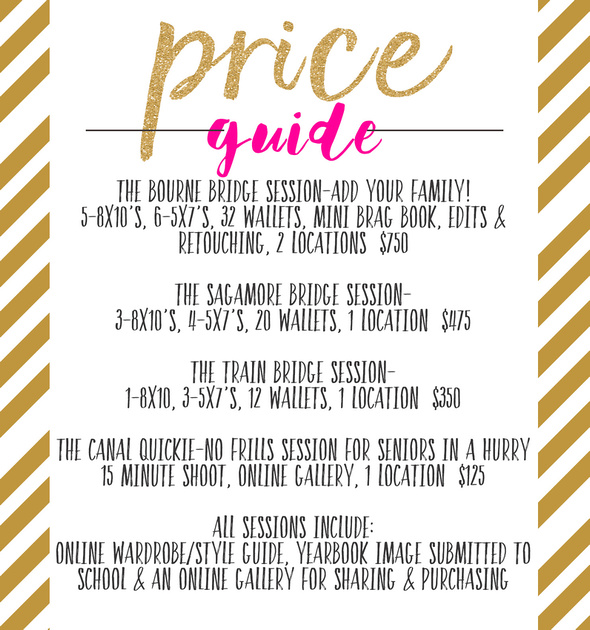 senior session price guide for 2017 for website